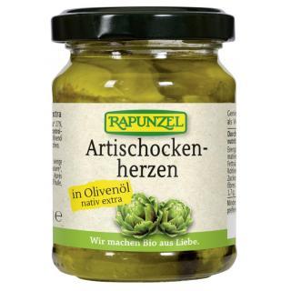 Artischockenherzen in Olivenöl 120g
