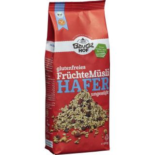 Hafermüsli Früchte glutenfrei 450g
